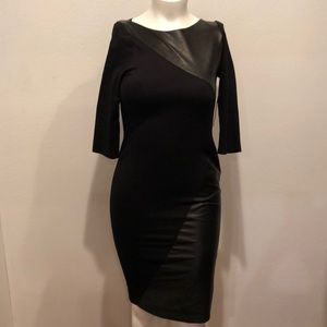 Alice and Olivia Combo Black Dress Size L